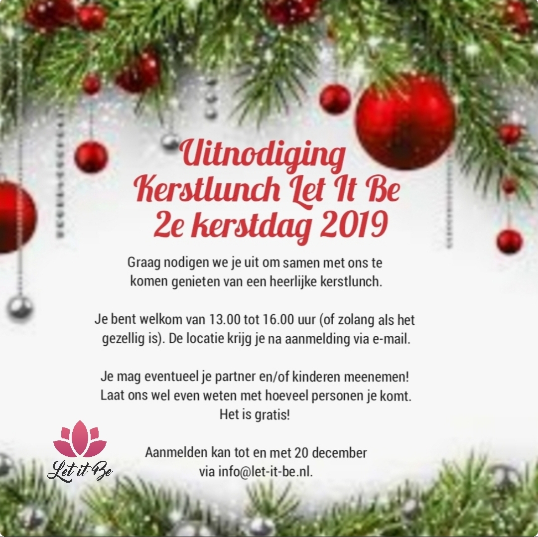 Kerstlunch Let it Be